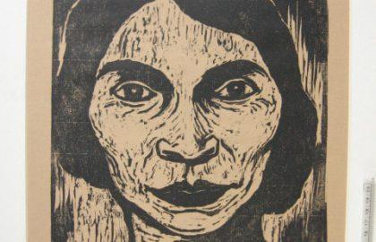 יעקב שטיינהרדט – חיתוך עץ, דיוקן מריאן אנדרסון